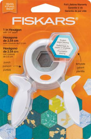 Fiscars 1in Hexagon English Paper Piecing Set