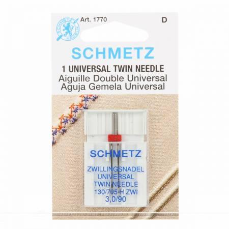 Schmetz Twin Machine Needle Size 3.0mm/90 1ct
