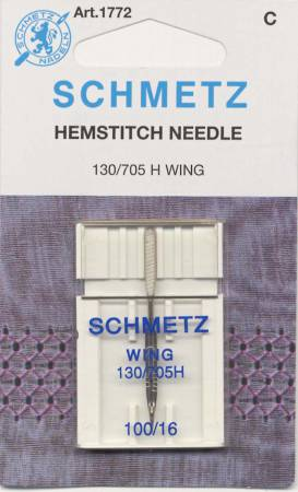 Schmetz Hemstitch / Wing Machine Needle Size 100 1ct