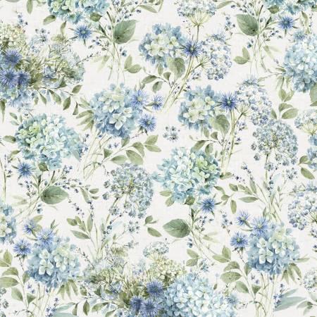 Bohemian Blue Cream Floral