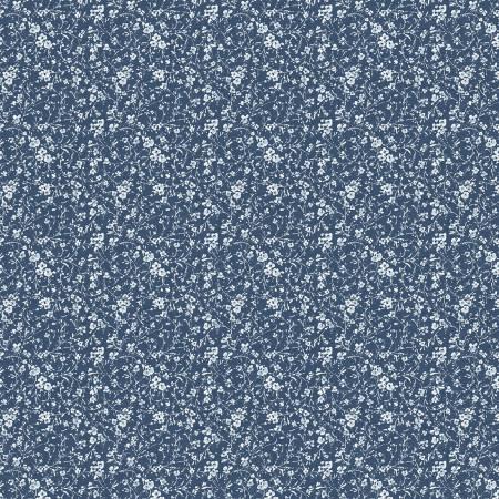 WP-17759-441 Blue Bohemian Blue Mini Floral