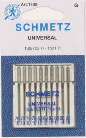 Schmetz Universal Machine Needle Assorted Sizes 70/80/90 10ct