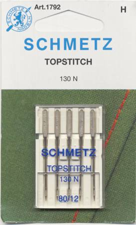 Schmetz Topstitch Machine Needle Size 12/80 5pk