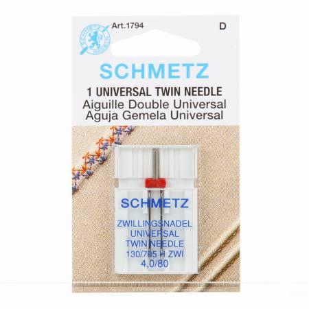SCHMETZ  1794 Twin Needle  4.0mm/80