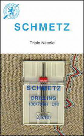 Schmetz Triple Universal Machine Needle 2.5mm/80 1ct