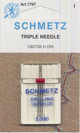 SCHMETZ 1797 Triple Needle 3.0mm/80
