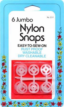 COLLINS Nylon Snap Clear Jumbo 6 ct