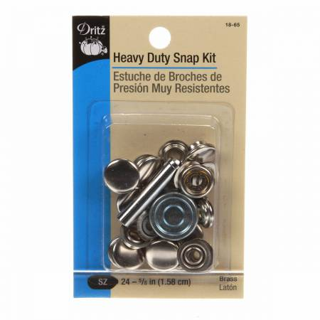 Dritz Heavy Duty Brass Snap Kit - 5/8in (24pc)