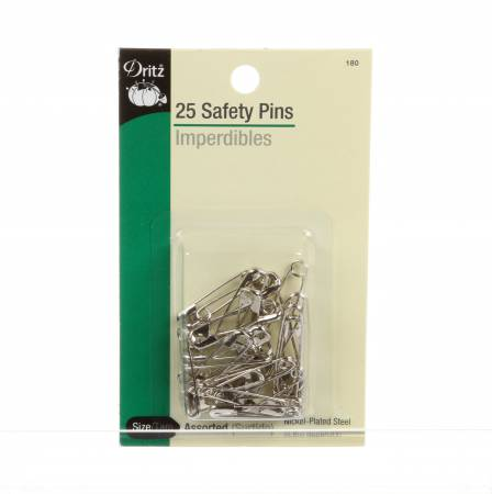Safety Pin Assorted 25ct