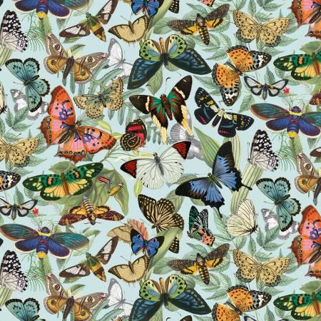 Blue Allover Butterflies
