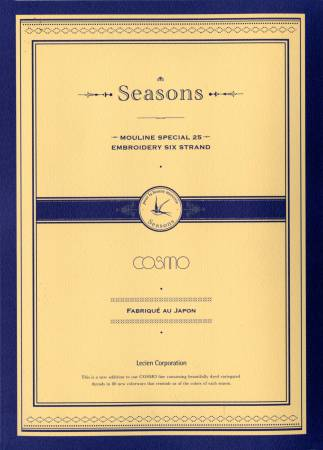 Lecien Cosmo Seasons Floss Skeins Color Card