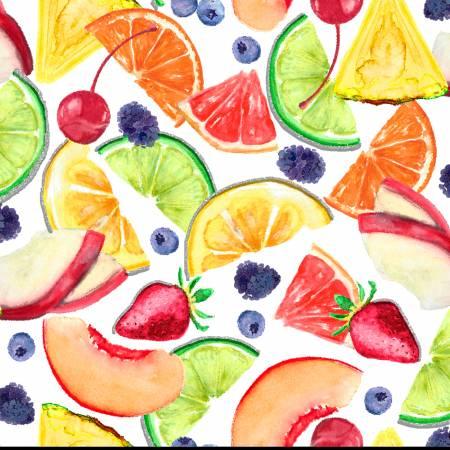 White Mix Fruit Glitter