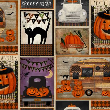 3 Wishes Spooky Night 18111-MLT Multi Spnt Patchwork