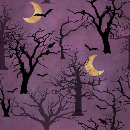 3 Wishes Spooky Night 18114-PUR Purple Spnt Forest