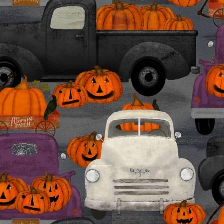 3 Wishes Spooky Night 18115-GRY Gray Spnt Pumpkin Patch