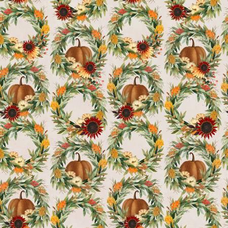 Happy Fall Wreath Beige 18117-BGE