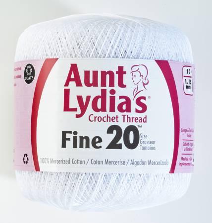 Aunt Lydia Fine Crochet Thread Size 20 White