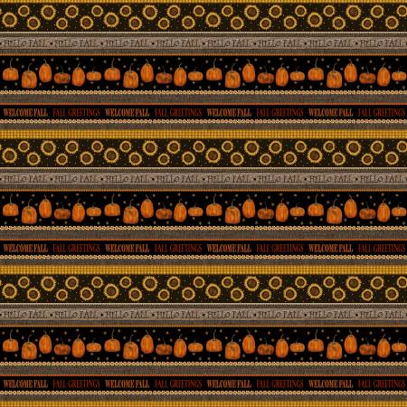 Espresso/Multi Welcome Fall Stripe