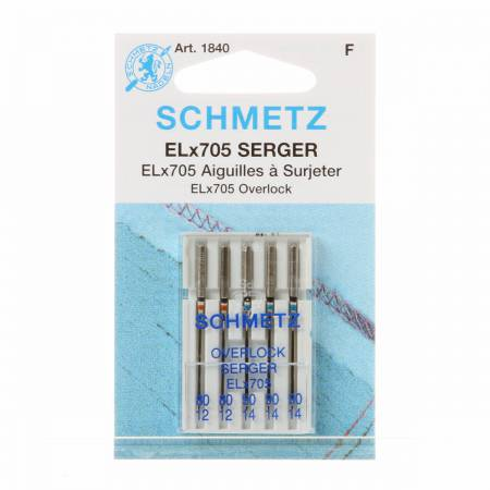 Schmetz Overlock / Serger Machine Needle ELX705 Size 80/90