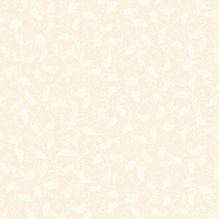 Tea Towel - Cream Holly