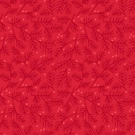 Red Tea Towel Pine Bough