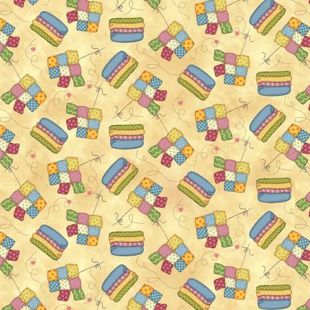 Sew Lets Stitch Butter Quilt & Fabric