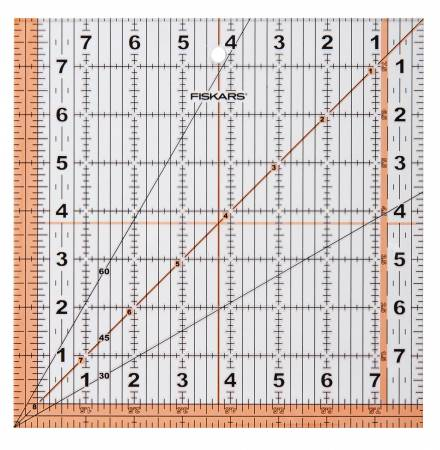 Fiskars 8-1/2in Square Acrylic Ruler