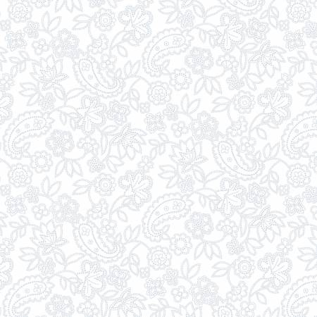 White on White Medium Paisley