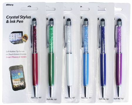 Crystal Stylus and Ink Pen various colors