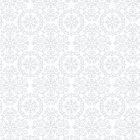 Quilter's Flour - White on White Medallion - by Henry Glass