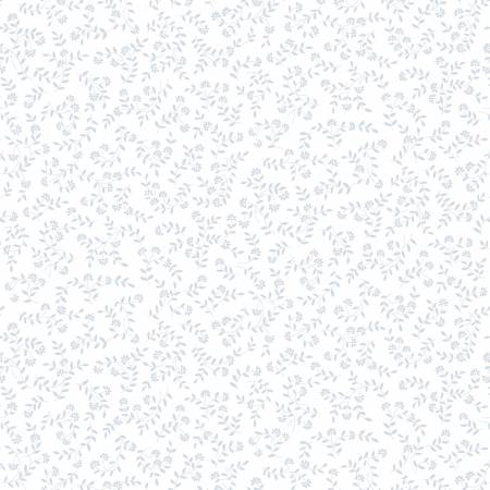 Quilter's Flour-Small Wildflower-White on White