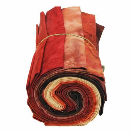 Fat Quarter, 1895's Batiks Red Colorway, 12pcs/bundle