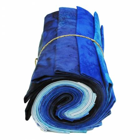 1895 Batiks Blue Colorway, 12pcs