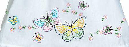 1900-143 Fluttering Butterflies Pillowcase Doll
