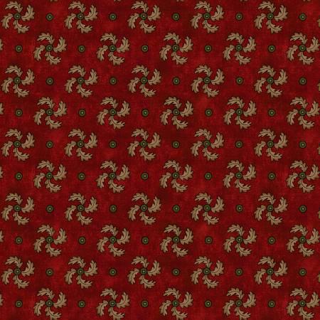 Kim Diehl Idaho Prairie Star Red Curved Pinwheel by Henry Glass 1917 - 88 *