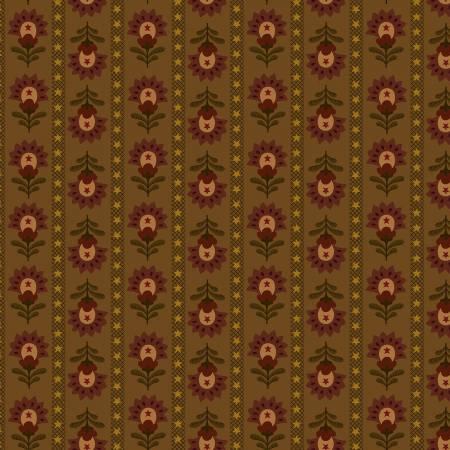 Idaho Prairie Star Brown Wallpaper Stripe