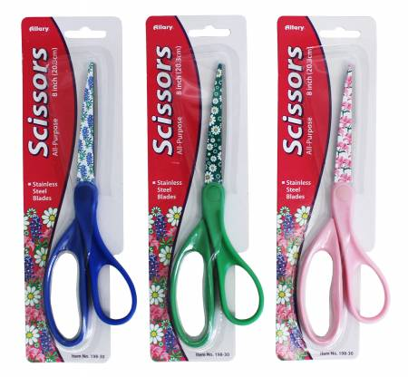 Notions - Floral Print Handle All Purpose Scissors 8in