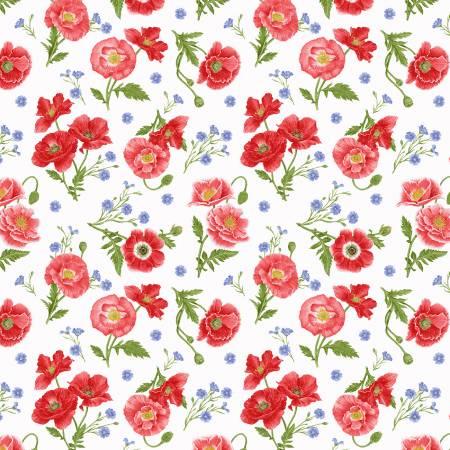 Multi Tossed Poppies