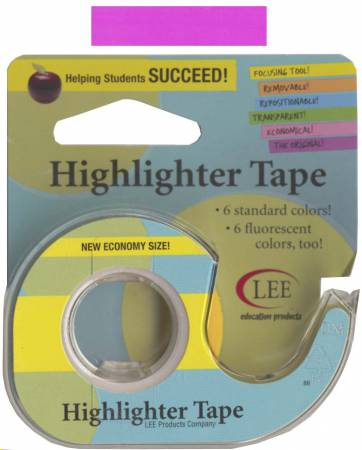 Removable Highlighter Tape 1/2in x 20yds Fluorescent Purple
