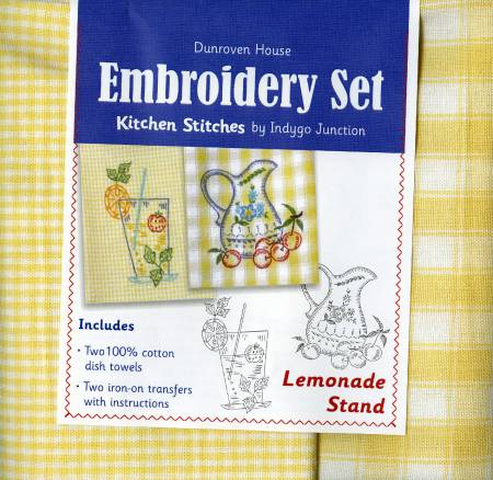 Lemonade Stand Towel Embroidery Set