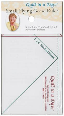 Small Flying Geese Ruler 3-1/2in x 6-1/2in   **Previously Item 2006CC
