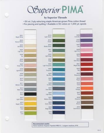 Pima Cotton Color Card