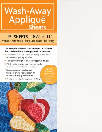 Wash-Away Applique Sheets 20ct
