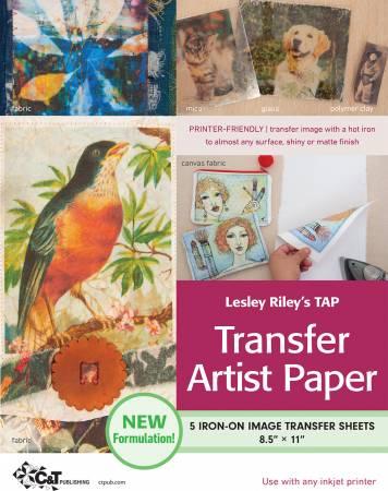 Lesley Riley's TAP Transfer Artist Paper 5pk