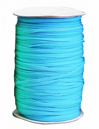Soft Stretch Elastic 1/4in Turquoise