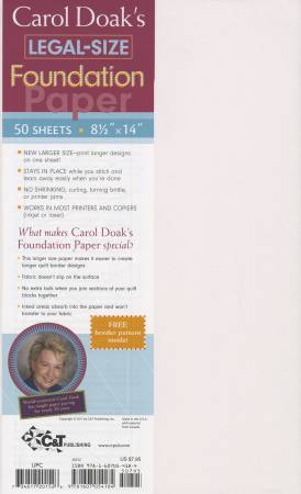 Foundation Paper Carol Doak 8-1/2in x 14in - 50Sheets