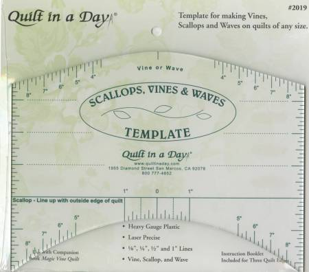 Scallops, Vines, & Waves Template