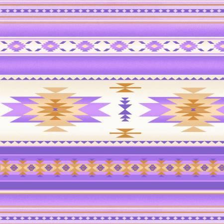 Tucson Lavender Indian Blanket 100% Cotton 42-44 Wide