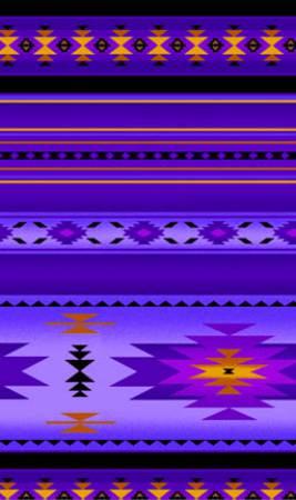 Tucson Purple Indian Blanket 100% Cotton 42-44 Wide