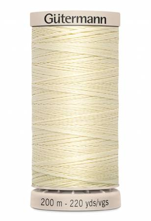 Gutermann Cotton Quilting Thread 219yds - 201M-0919 Light Pearl